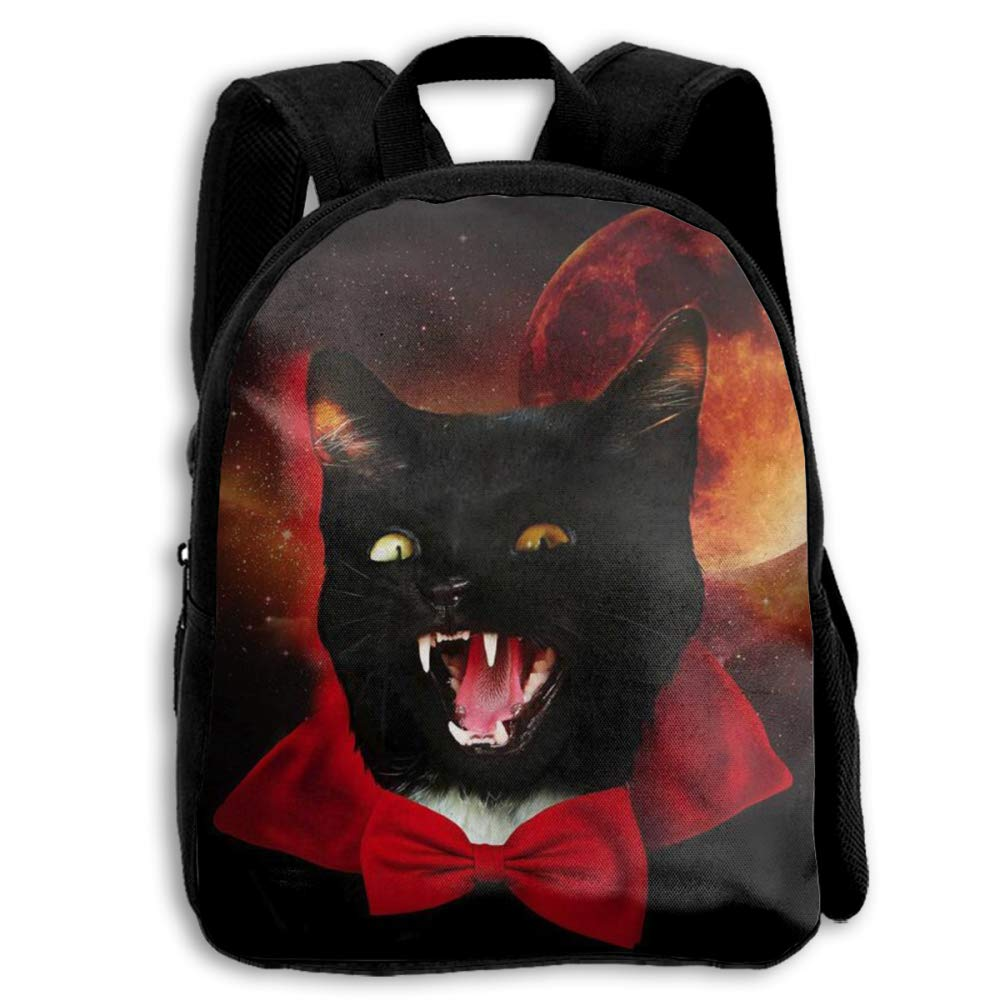 Blood Moon Black Cat Earl School Backpack Kids Snack Backpack Book Bags Fo Boy & Girl & Kids