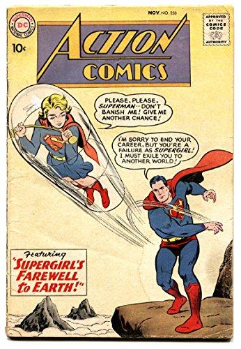 (ACTION COMICS #258 comic book SUPERGIRL 1959-SUPERMAN-DC SILVER)