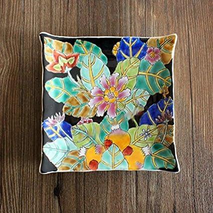 östliches Mediterráneo Mode placa de cerámica pintadas a mano Frutero Spa Toalla Diverses, 16*