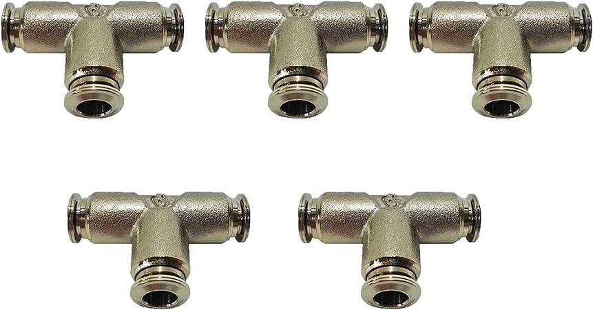 Push Lock mistcooling 1//4 Coupling Tee 1//4 Coupling Tee