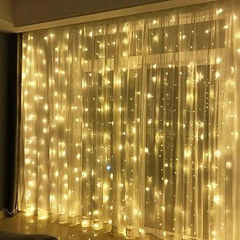300 Led Lichterkette Warmweiss Innen 3x3meter Lichtervorhang Ip44