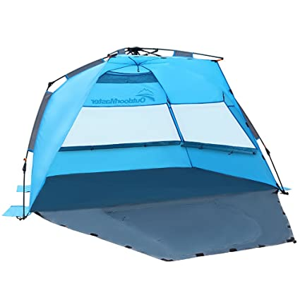 OutdoorMaster Pop Up Beach Tent - Easy to Set Up, Portable Shade with SPF Amazon.com: