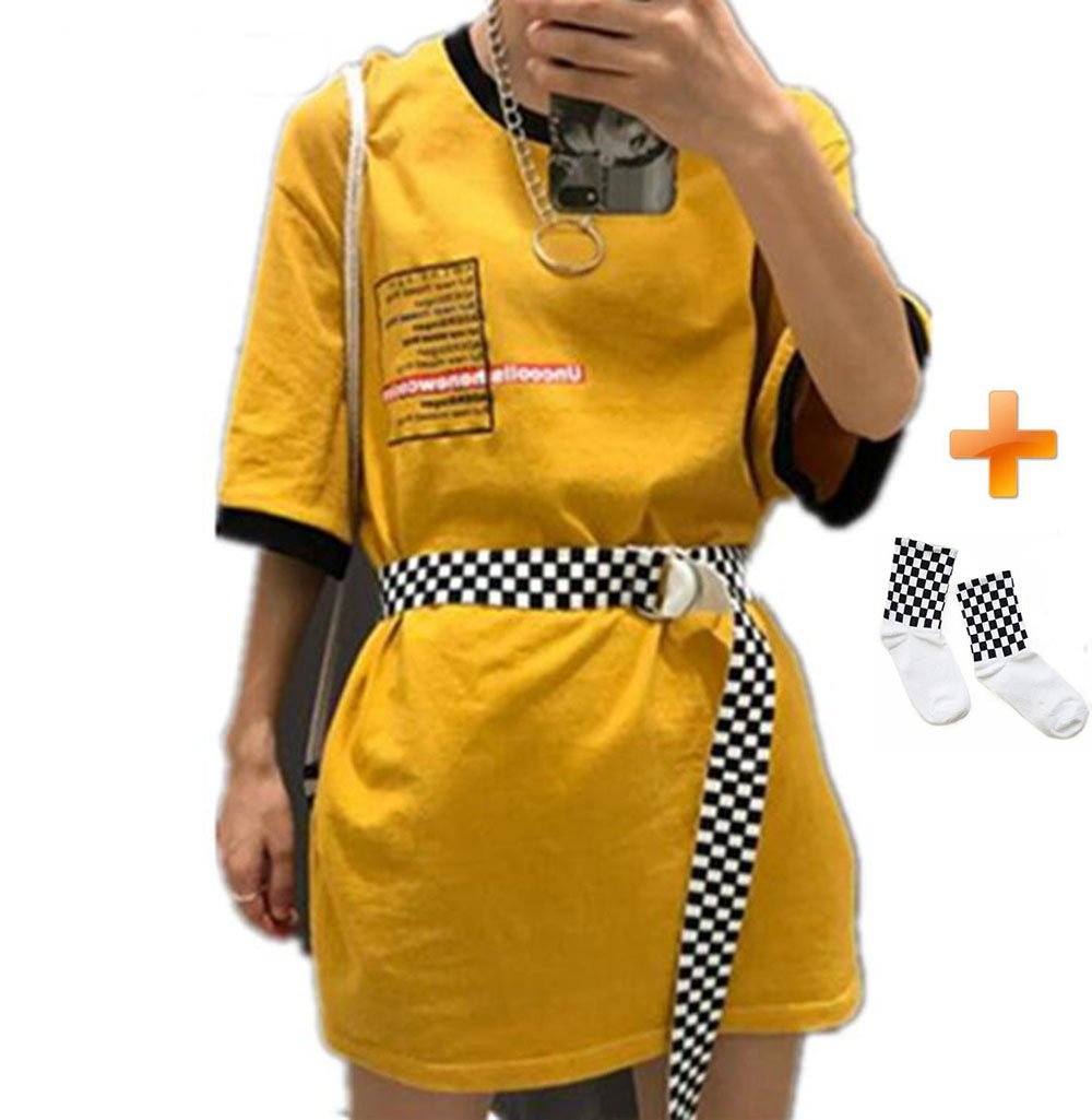 New 2018 Checkerboard Belts 26'' Cummerbunds Canvas for Women Waist Belts Casual Checkered Waistband Black White Belt With Sock