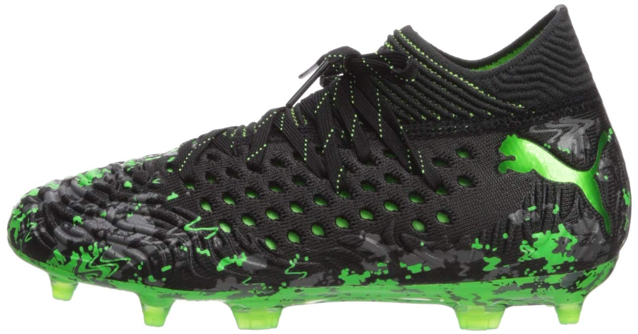 PUMA Unisex Future 19.1 Netfit FG/AG JR Sneaker, Black-Charcoal Gray-Green Gecko, 5 M US Big Kid by PUMA (Image #5)