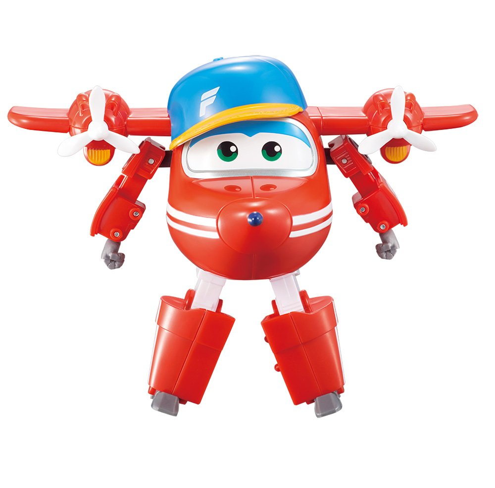 "Super Wings - Transforming Flip Toy Figure | Plane | Bot | 5"" Scale"