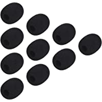 Docooler Andoer Mini Lapela Headset Microfone Windscreen Mic Capa De Espuma, Black 10-Pack