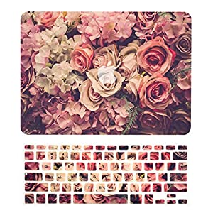 "TOP CASE – 2 in 1 Bundle Floral Pattern Graphics Rubberized Hard Case + Keyboard Cover for MacBook Pro 13"" (13"" Diagonally) with Retina Display (Release 2012-2015) Model: A1425 / A1502 - Lavish Floral"