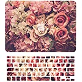 """TOP CASE – 2 in 1 Bundle Deal Floral Pattern Rubberized Hard Case + Keyboard Cover Compatible with Apple MacBook Air 13"""" (13"""" Diagonally) Model: A1369 / A1466 - Lavish Floral"""