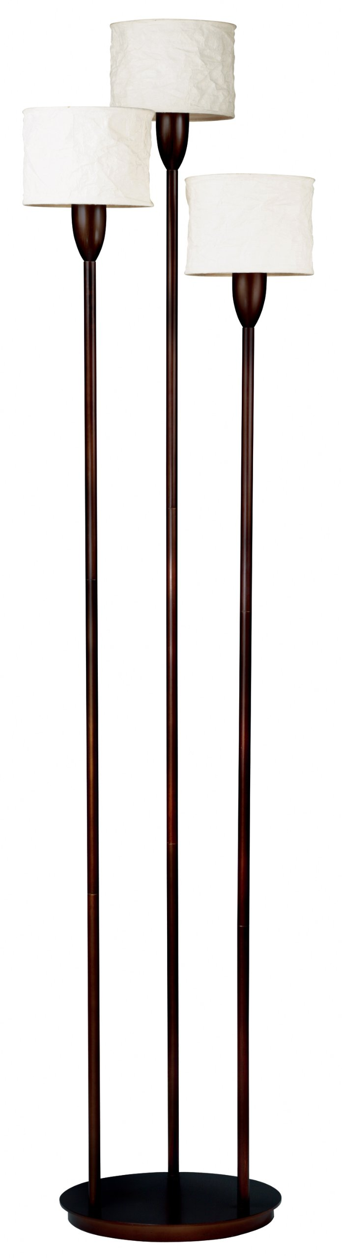 Kenroy Home 30673ORB 3 Light Crush Torchiere, Oil Rubbed Bronze