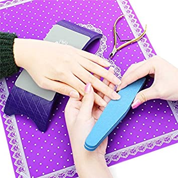 Tragbare Faltbare Nail Art Handauflage Nagel Silikon Kunststoff