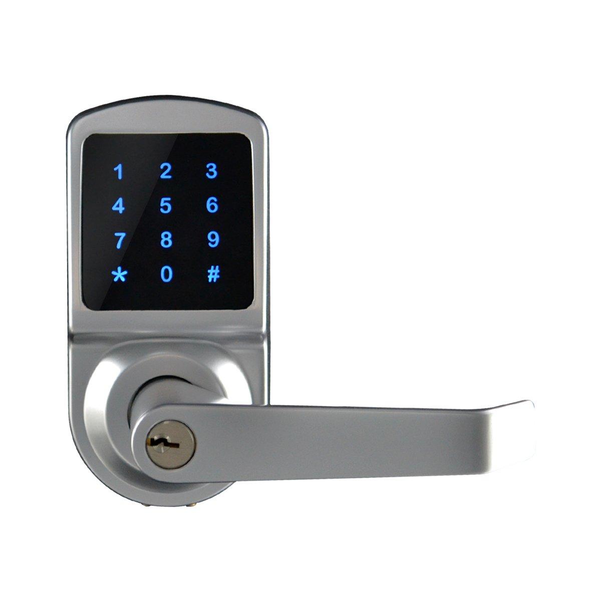 SCYAN X3 Touchscreen Keyless Keypad Door Lock, Satin Chrome, Non Handed