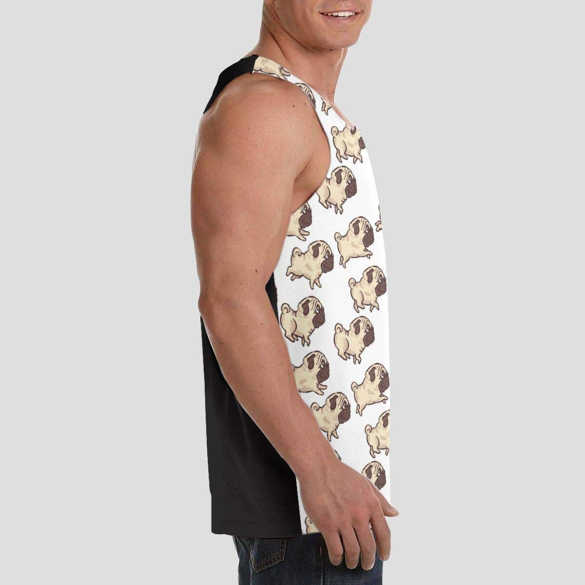 Premium Fitted T-Shirts Hip Pop Vest T-Shirts for Youth /& Adult Men Boys