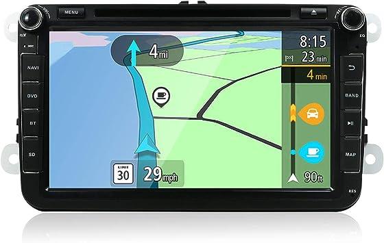 YUNTX Android 8 Autoradio Compatible con Golf/Skoda/Seat - GPS 2 DIN - Cámara Trasera&Canbus Gratis - 8 Pulgada - 2GB/32GB - Soporte Dab+ / Mandos de ...
