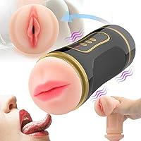 2 En 1 Masturbádores para Hombres,3D Realísta vagina
