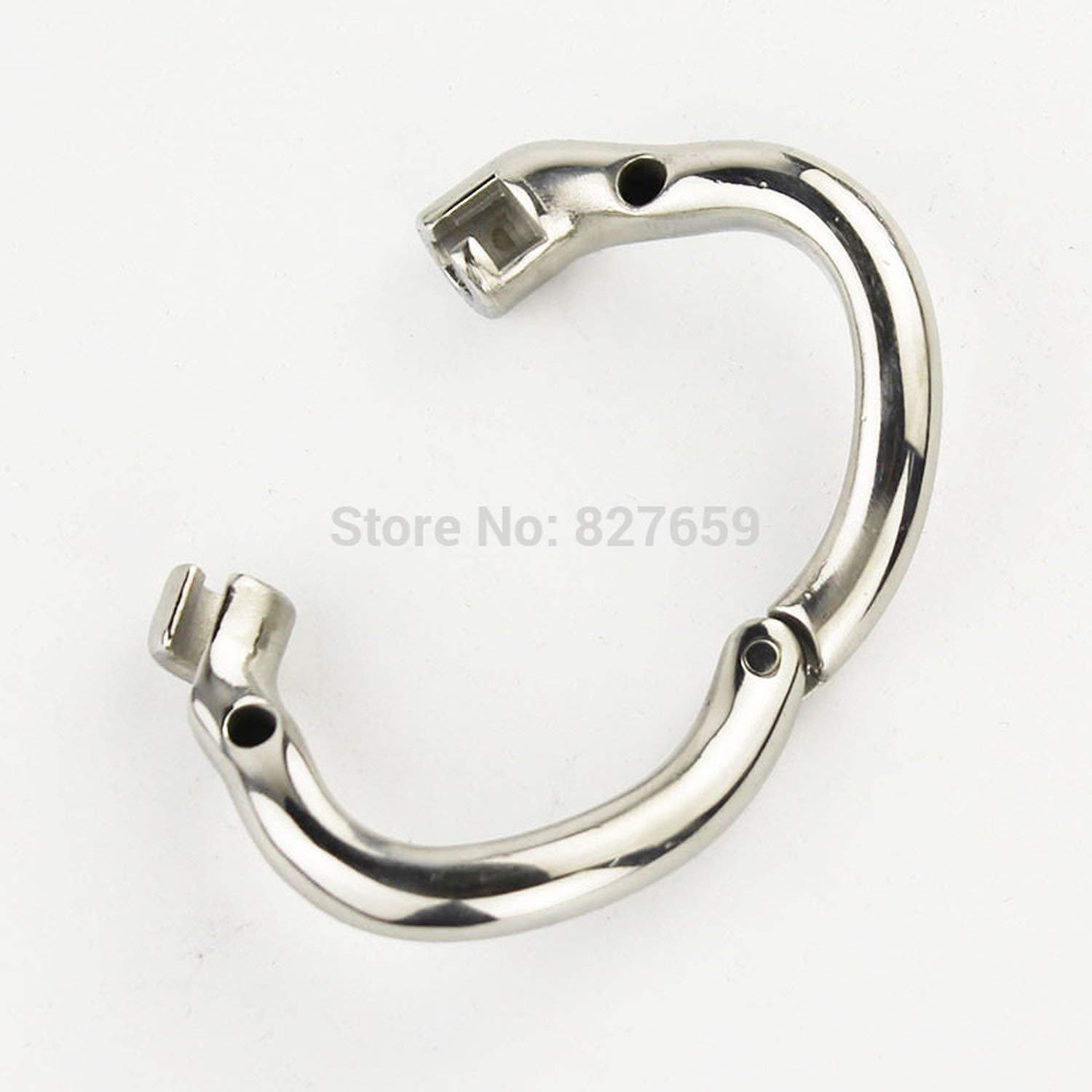 2018 Super Small Male Stainless Steel Cage with with arc-Shaped Ring Men Belt,38mm Ring by Little Sophie (Image #4)