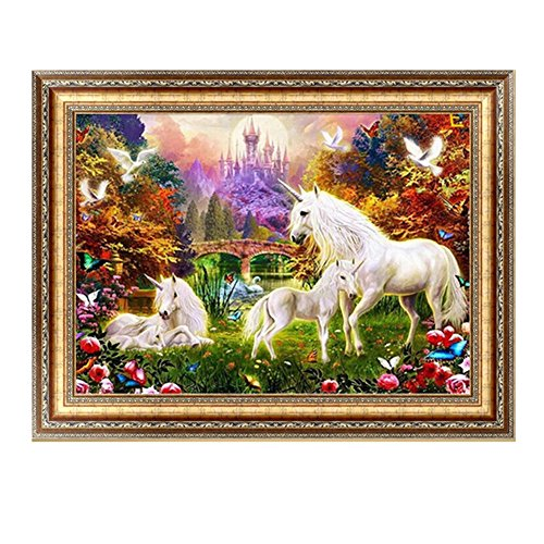 Techinal DIY 5D unicorn Diamond Cross Stitch Horses Embroidery Painting Craft Home Decor
