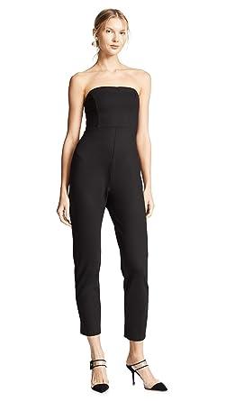 9fd74b5e3c5a Amazon.com  Susana Monaco Women s Strapless Jumpsuit  Clothing