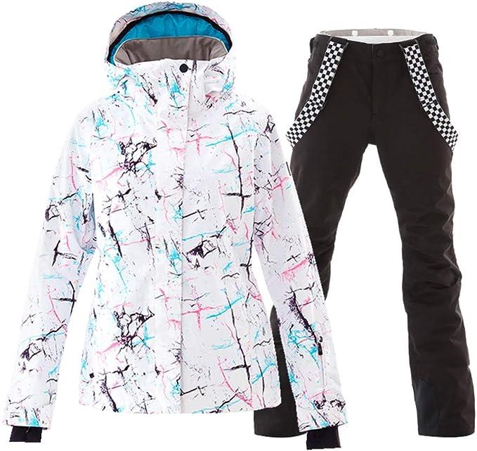 Little Girls Outdoor Mountain Waterproof Windproof Ski Jacket Insulated Snowboarding Coatand Pants Snowsuit Set