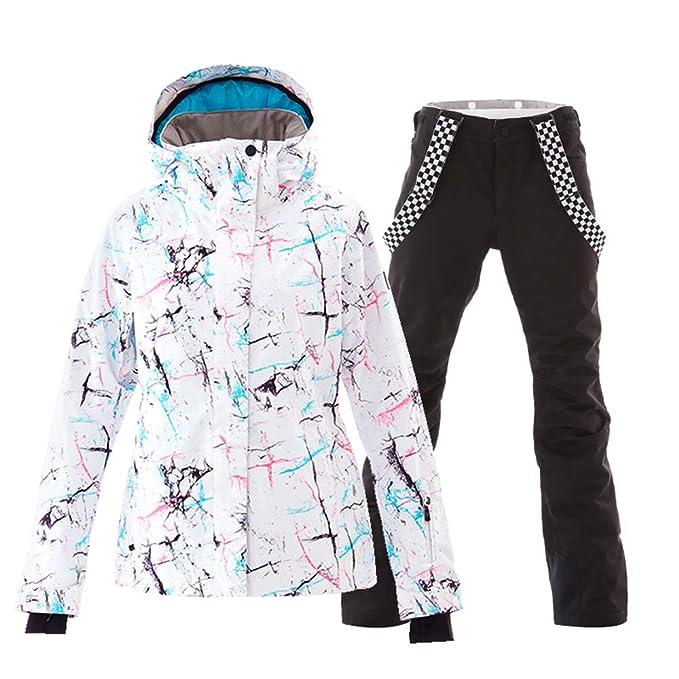 Amazon.com: Conjunto de chaquetas y pantalones de esquí para ...