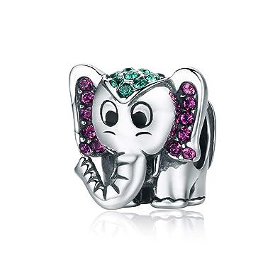 ENYU Encantos de Las Mujeres Lucky Elephant Charm Pandora ...