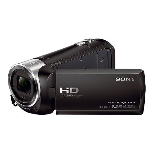 "Sony Handycam® HDR-CX240E con sensor CMOS Exmor R® - Videocámara (CMOS, 25,4 / 5,8 mm (1 / 5.8""), 2,1 - 57 mm, 29,8 - 804 mm, Tarjeta de memoria, MicroSD (TransFlash), MS Micro (M2), SDHC, SDXC) Negro"