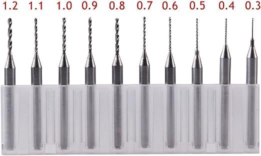 "10PCS 0.3-1.2mm PCB Carbure Micro Foret Fraise Perceuse Drill Bit 1//8/"" Shank CNC"