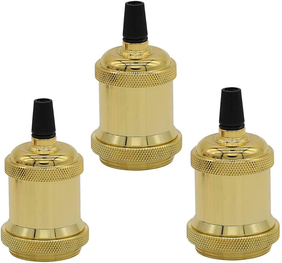 Vintage E27 Retro Screw Bulb Socket Lamp Holder Light Fitting Adaptor 4 Colors