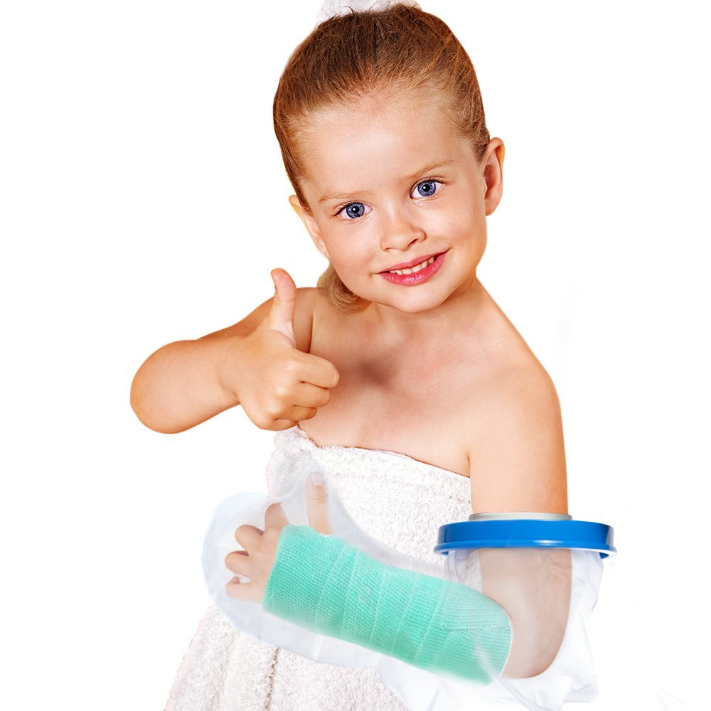 Kids Arm Cast Cover with Waterproof Seal Protection. Keep Casts & Bandages Totally Dry for Shower, Bathing Or Swimming. Heavy Duty Vinyl is Durable Yet Lightweight and Reusable. (Full Arm)