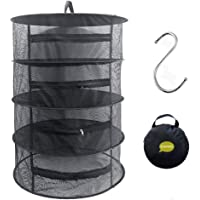 Drying Net,Collapsible Mesh Hydroponic Drying Rack Dry Net Herb Dryer,Black