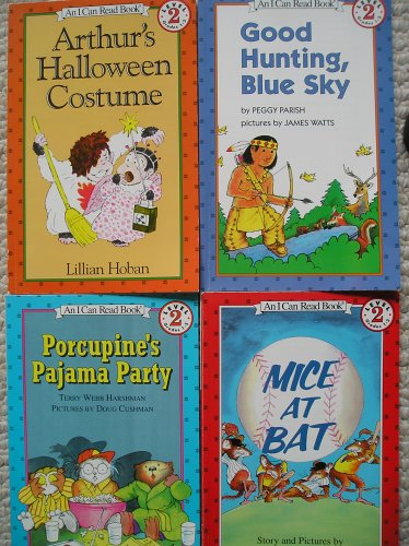 An I Can Read Book Set (Mice at Bat, Porcupine's Pajama Party, Good Hunting, Blue Sky, Arthur's Halloween Costume) -