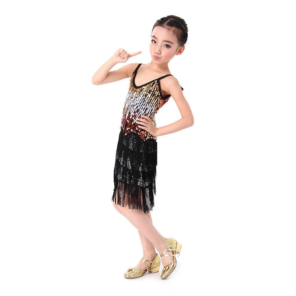 ce5eff528 Amazon.com   SymbolLife Girls Latin Dance Dress