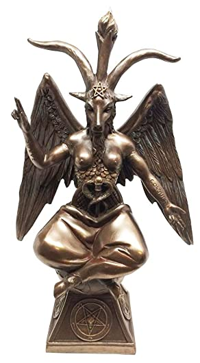 Pacific Giftware Goat Baphomet Satanism Sabbatic Sculpture, Bronze