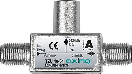 Axing TZU 40-04 Divisor de señal para Cable coaxial Metálico - Splitter/Combinador