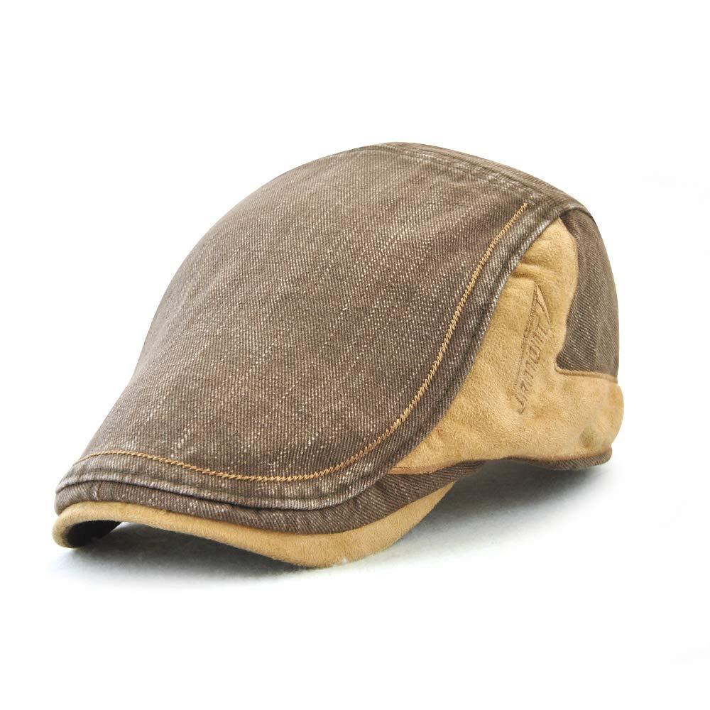 Aodrusa Mens Cotton Flat Ivy Gatsby Newsboy Driving Hat Cap