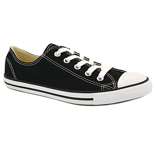ea714be099e8 Converse Chuck Taylor Dainty Ox 530054C Unisex Canvas Laced Trainers Black  White - 5  Amazon.co.uk  Shoes   Bags