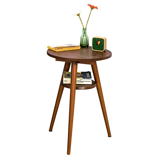 SoBuy® Mesa auxiliar con 2 estantes, mesa de centro,Consola,H56 cm ...