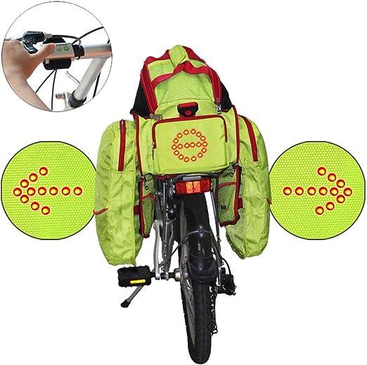 CYCPACK Bolsa para Maletero Bicicleta (18L) Luz señalización ...