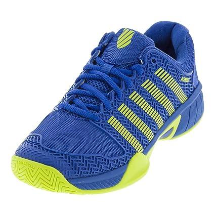 5b84bf9339f06 K-Swiss Junior Hypercourt Express Tennis Shoe, Strong Blue/Neon Citron (2)