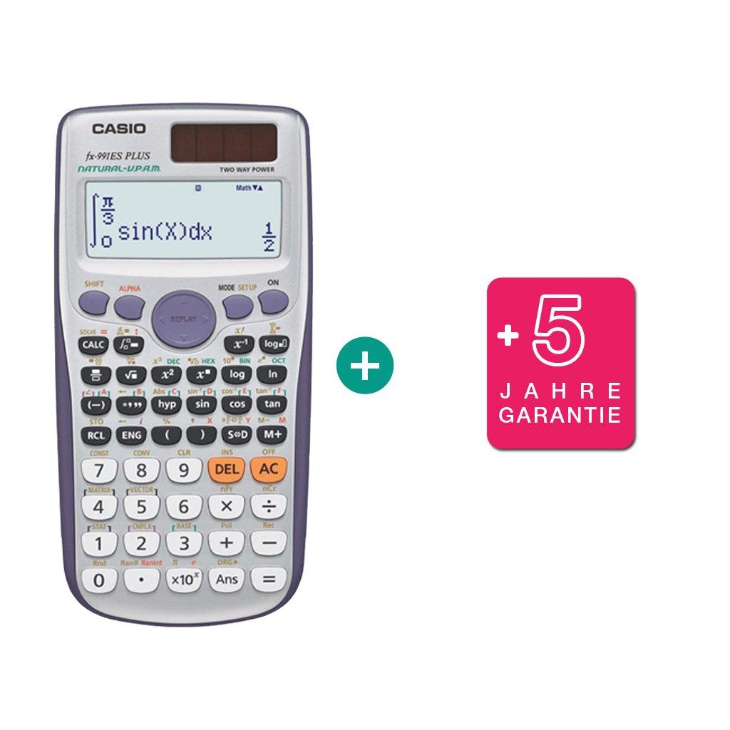 Casio, calcolatrice scientifica, FX-991ES Plus 2. + Erweiterte Garantie Calcuso.de/Casio Casio FX 991 ES PLUS