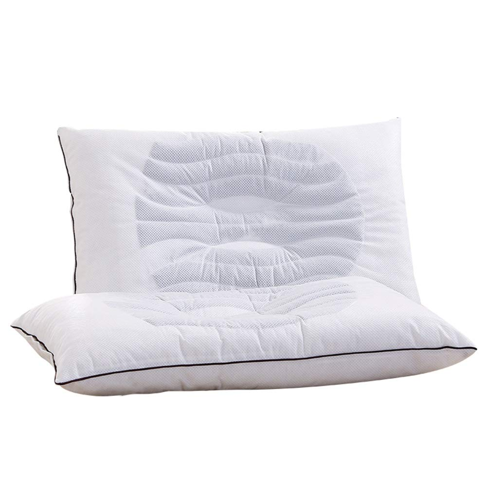 Standard Size Adult Pillow, Buckwheat and Lavender Fragrance Pillow, Promote Sleep (White, 1 Pair)