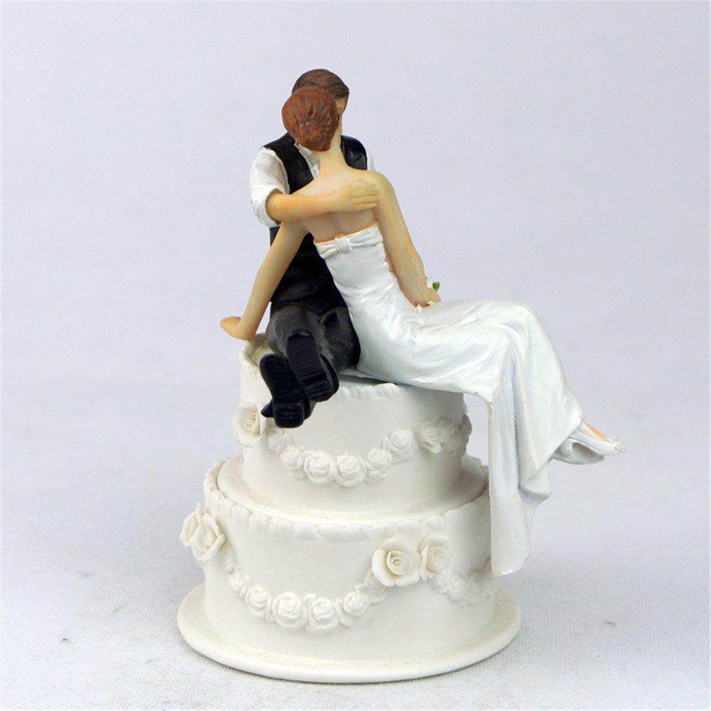 Derker Wedding Cake Topper Love Bride and Groom Figurine--Kiss,Christmas gift