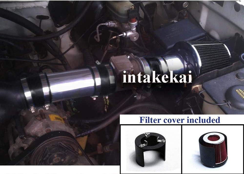 PERFORMANCE AIR INTAKE KIT BLACK FILTER FOR 1994-1996 FORD BRONCO F-150 5.0 5.0L 5.8 5.8L V8 ENGINE WILL ONLY FIT FOR VEHICLE HAS THE MAF SENSOR UNIT