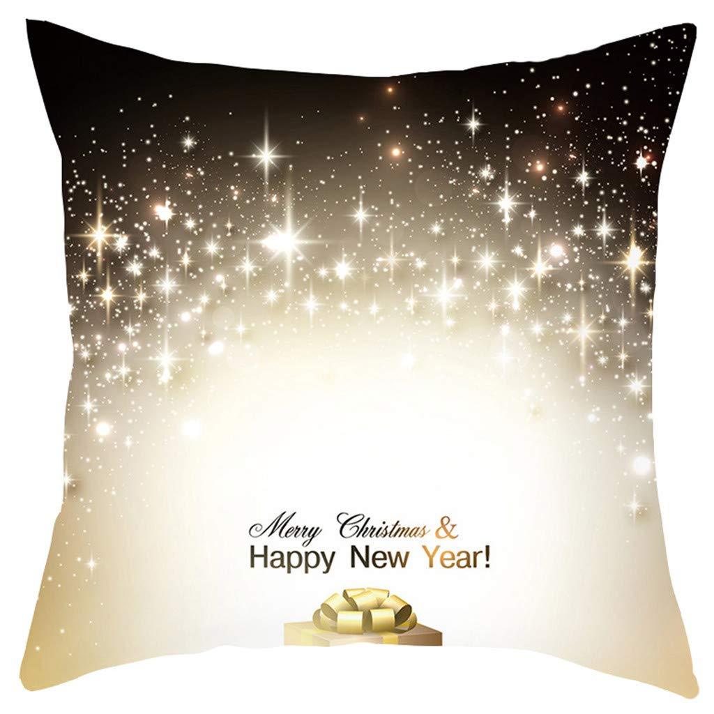 HEVÜY Housse de Coussin 45 x 45 cm - Motif imprimé de Noël - pour canapé - Housse de Coussin décorative - Doux - pour décoration de Salon, A-8, 45 cm x 45 cm