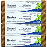 Himalaya Whitening Toothpaste - Simply Peppermint 5.29 oz/150 gm (4 Pack), Natural, Fluoride-Free & SLS-Free