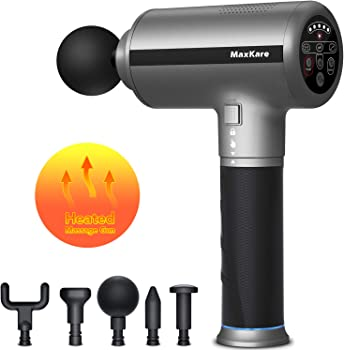 MaxKare Heated Massage Percussion Gun with 3 Mode & 5 Speed Levels