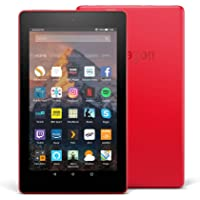 """Fire 7 Tablet with Alexa, 7"""" Display, 16 GB, Punch Red — with Special Offers"""