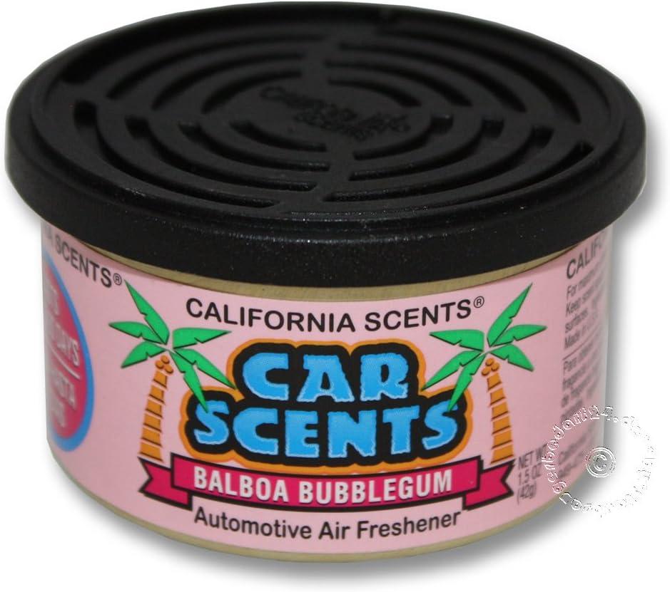 California Car Scents Balboa Bubble Gum - Ambientador para coche (en lata): Amazon.es: Jardín