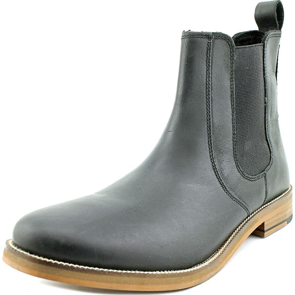 Crevo Men's Denham Chelsea Boot,Black Leather,US 9.5 M