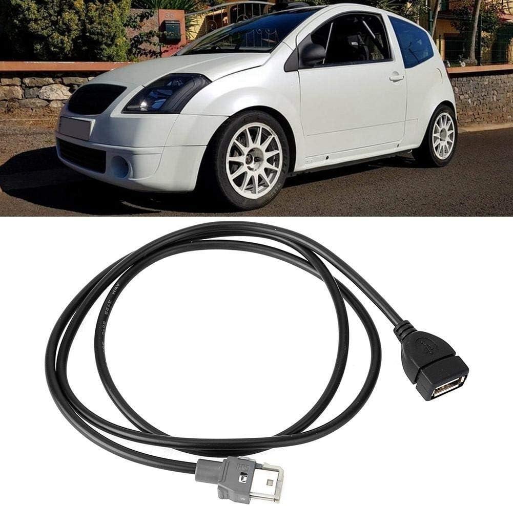 KSTE Radio Cavo USB Linea Fit Compatible with para Peugeot 307 407 308 408 508 para Citroe C2 C3 C4 C5 C4L