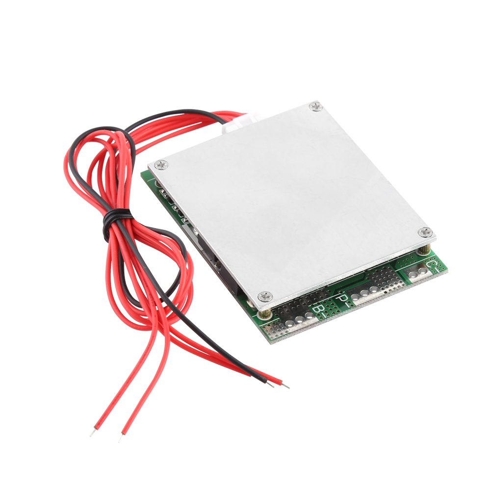4S 100A 12V LiFePO4 Lithium Battery Protection Board Iron Phosphate LFP w/Board Charging Controller with Balancing Function Hilitand